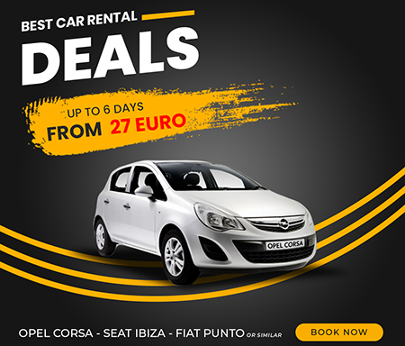 OPEL CORSA - SEAT IBIZA - FIAT PUNTO OR SIMILAR UP TO 6 DAYS  FROM  27 EURO