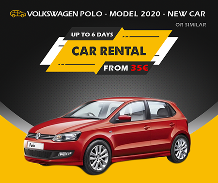 VW POLO  MODEL 2020  NEW CAR  OR SIMILAR UP TO 6 DAYS  FROM  35 EURO