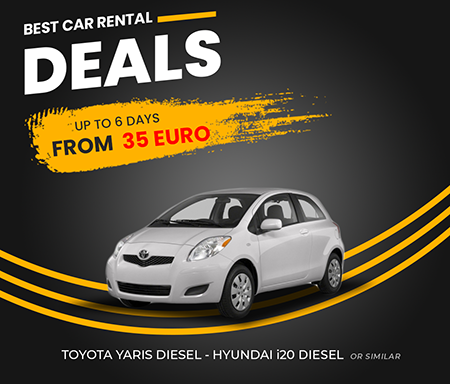 TOYOTA YARIS DIESEL- HYUNDAI I20 DIESEL OR SIMILAR UP TO 6 DAYS  FROM  35 EURO